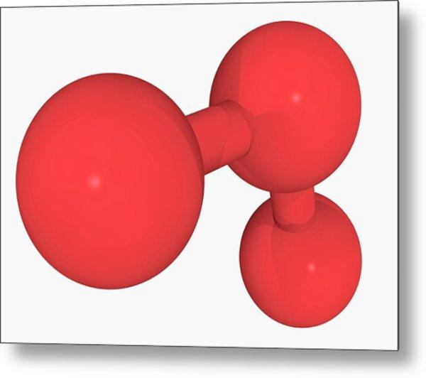 Ozone Oxygen Molecule Metal Print by Laguna Design/science Photo Library