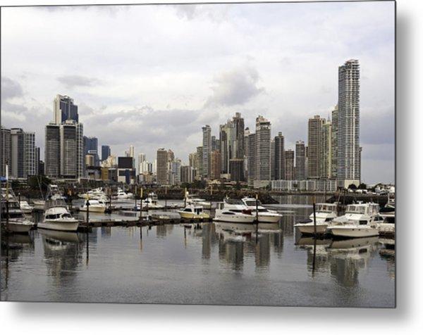 Panama City Skyline. Panama. Metal Print by Fernando Barozza