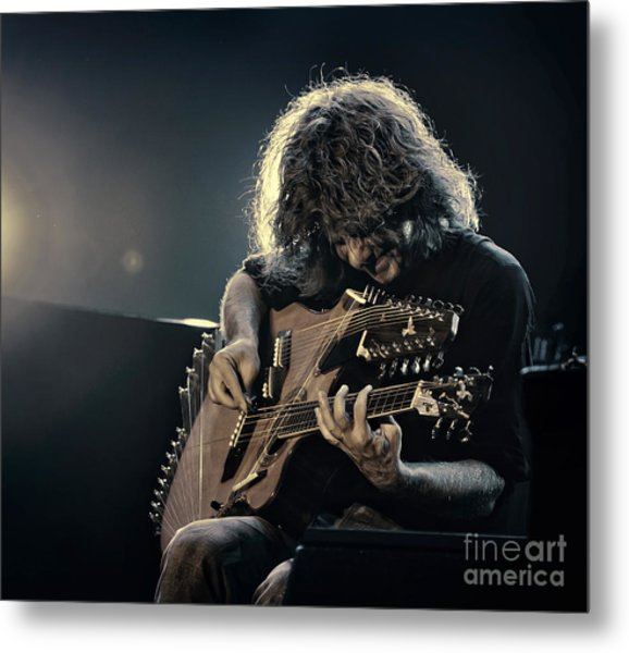 Pat Metheny Metal Print