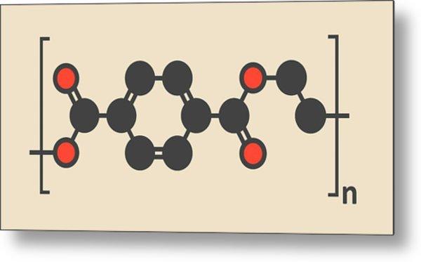 Polyethylene Polymer Molecule Metal Print