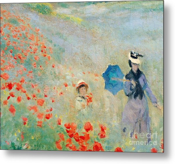 Poppies At Argenteuil Metal Print