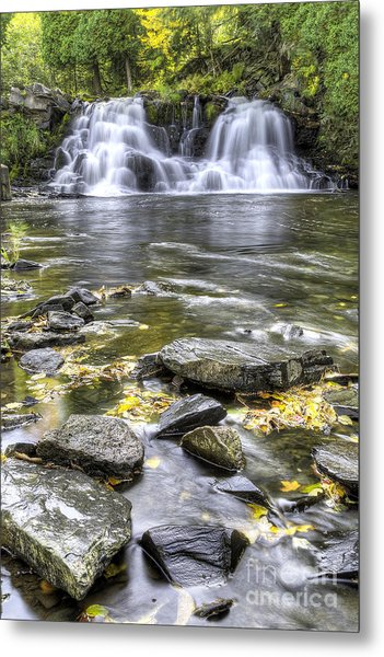 Powerhouse Falls Metal Print by Twenty Two North Photography