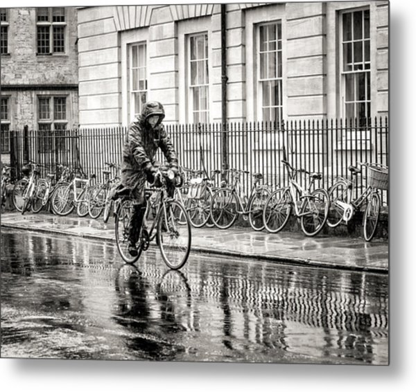 Rainy Day Ride Metal Print