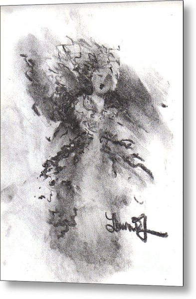 Metal Print featuring the drawing Rapture Of Peace by Laurie Lundquist