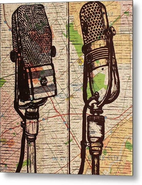2 Rca Microphones Metal Print
