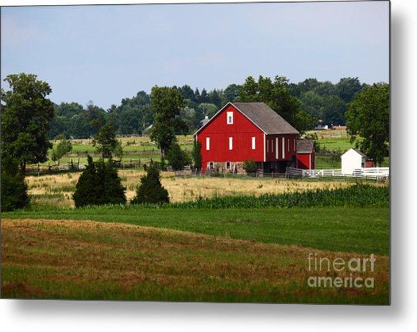 Red Barn Gettysburg Metal Print