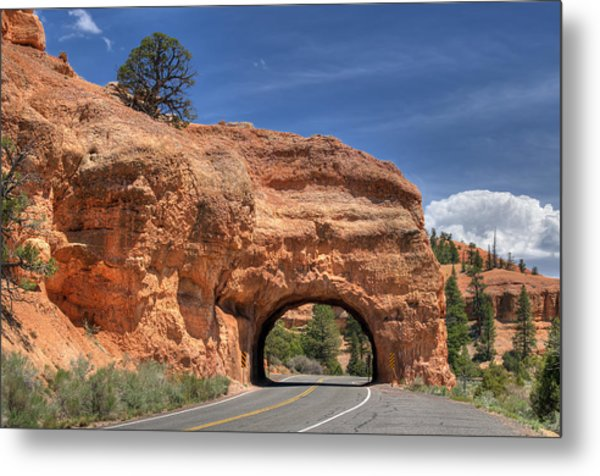 Red Canyon National Park Utah Road Tunnel  Metal Print