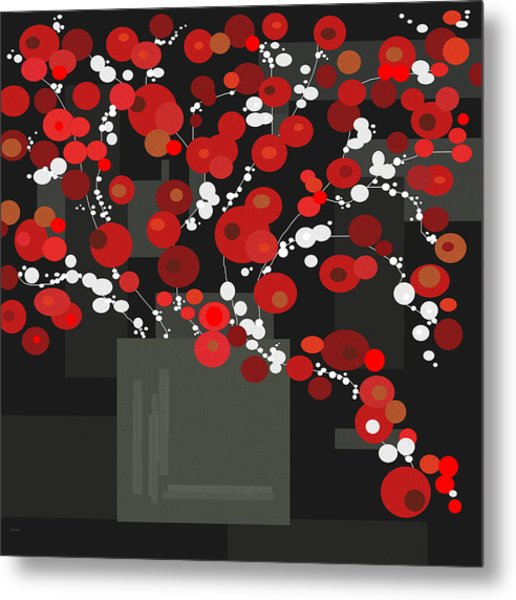 Red Flowers Metal Print