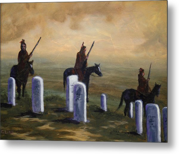 Return To Little Bighorn  Metal Print
