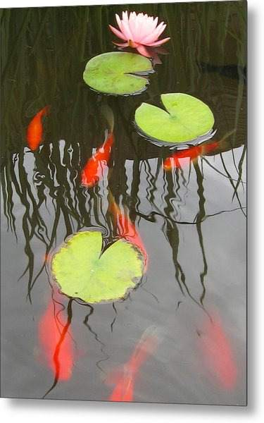 Rippled Reeds Metal Print