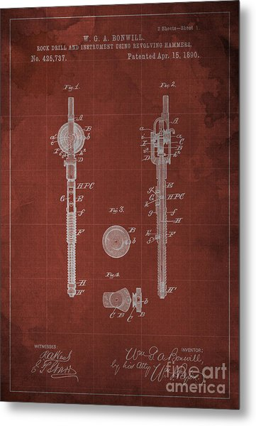 Rock Drill And Instrument Using Revolving Hammers Metal Print