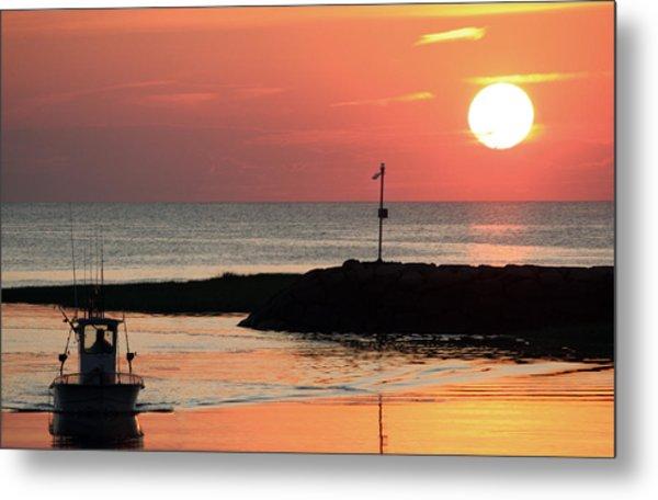 Rock Harbor Sunset Metal Print