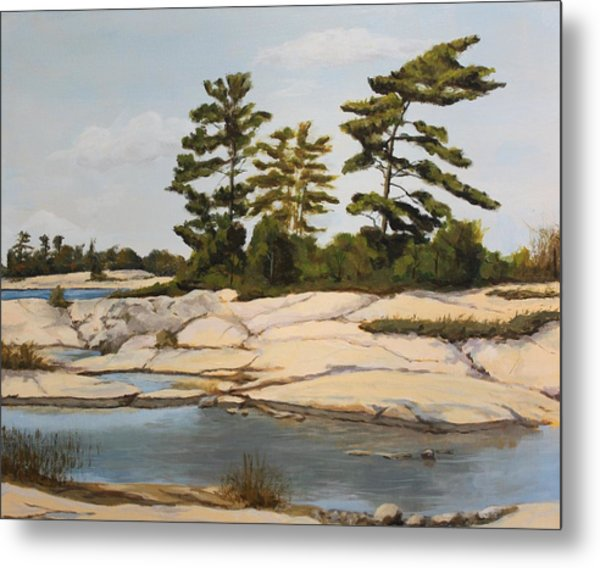 Rock Ponds. Lost Bay. Beausoleil Metal Print by Humphrey Carter