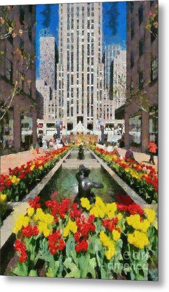 Rockefeller Plaza Metal Print