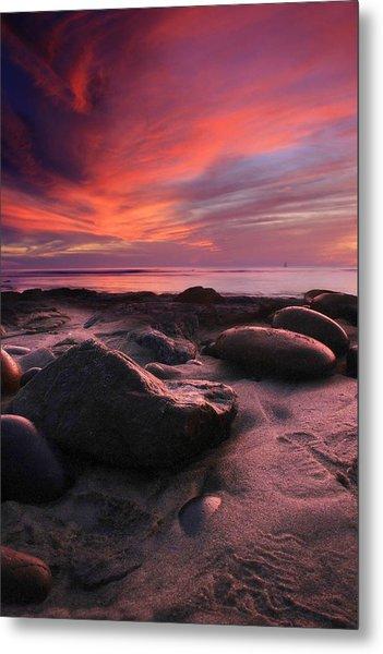 Rocky Sunset Metal Print