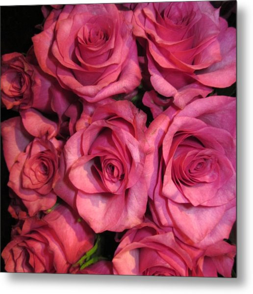 Rosebouquet In Pink Metal Print