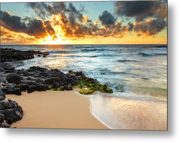 Sandy Beach Sunrise 7 Metal Print