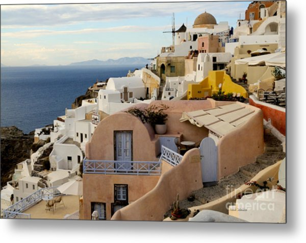 Santorini - Greece Metal Print