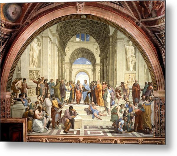 School Of Athens Metal Print