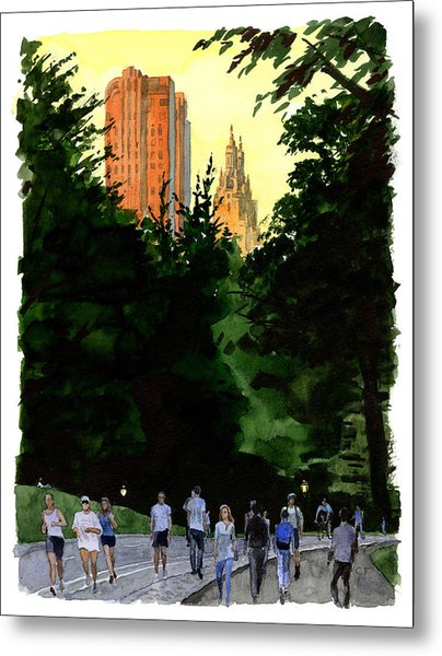 September Walk Metal Print