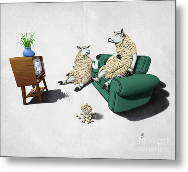 Sheep Wordless Metal Print