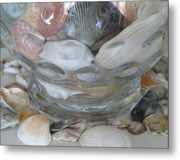 Shells In Bubble Bowl 2 Metal Print