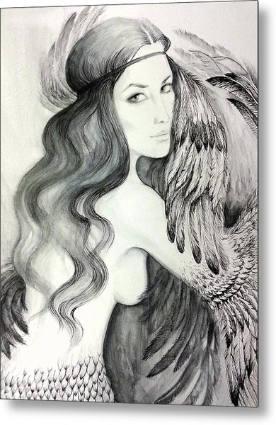 Siren Metal Print by Roksolana Tchotchieva