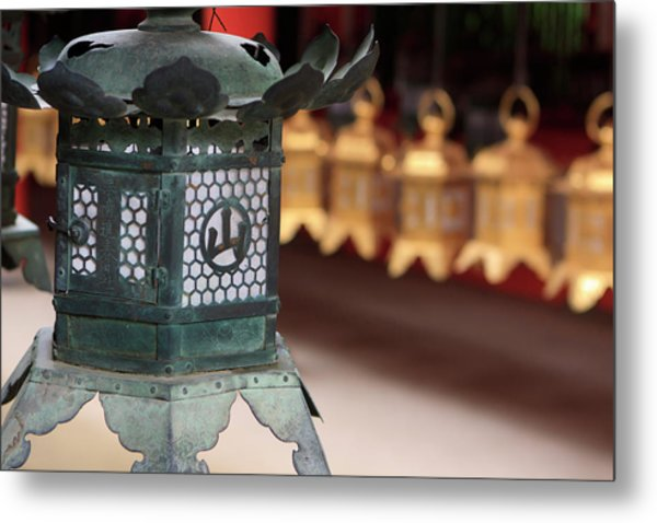 Smaller Metal And Gold Lanterns Metal Print by Paul Dymond