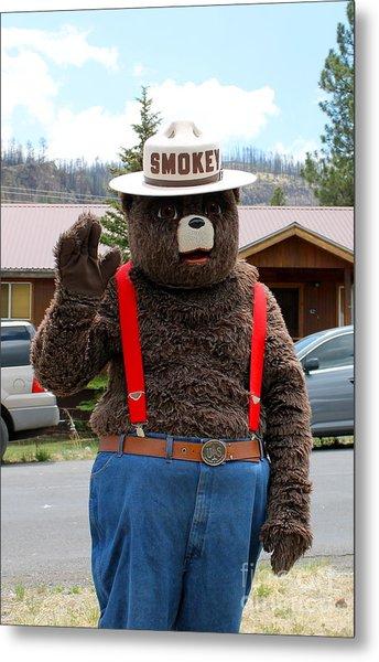 Smokey The Bear Metal Print