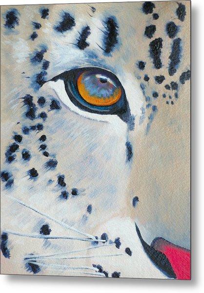 Snow Leopard Eye Metal Print by John  Sweeney