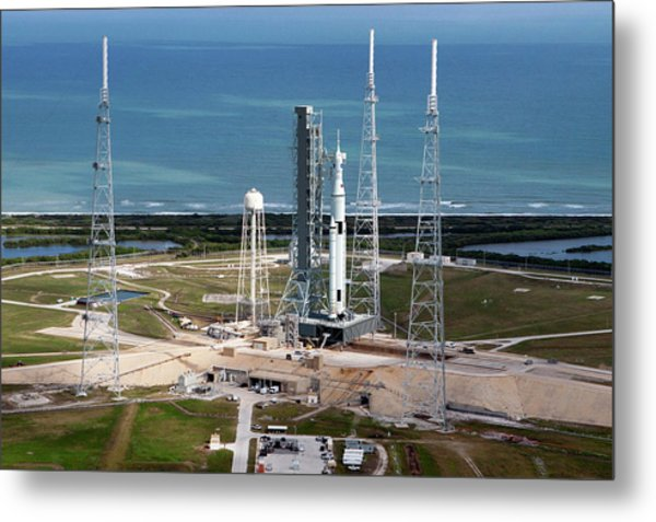 Space Launch System Launch Metal Print by Nasa