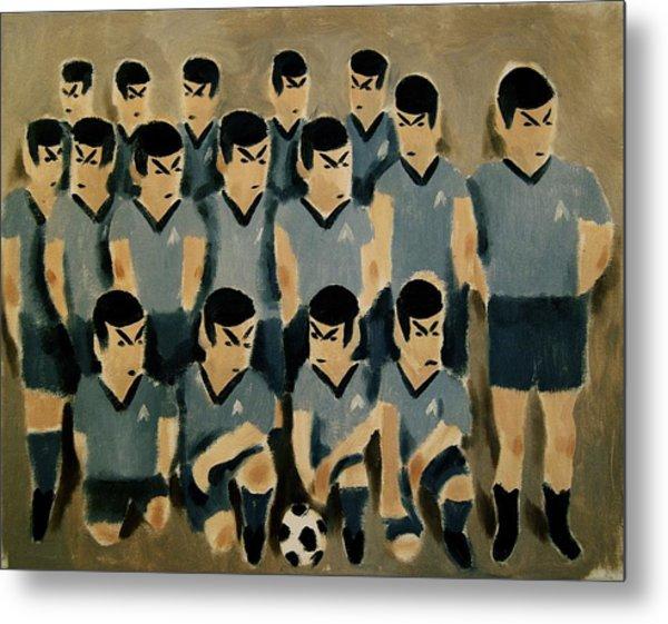 Spock Soccer Team Art Print Metal Print
