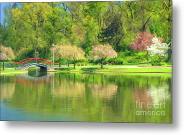 Springtime Reflections Metal Print