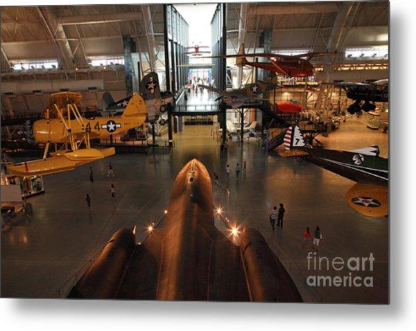 Sr71 Blackbird At The Udvar Hazy Air And Space Museum Metal Print