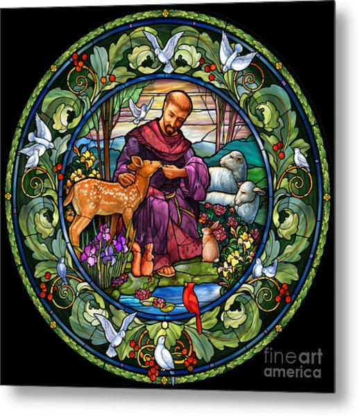 St. Francis Of Assisi Metal Print