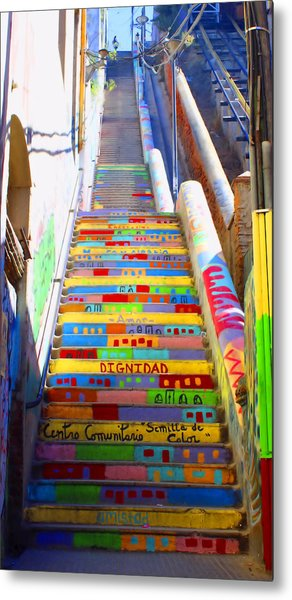 Stairway To Heaven Valparaiso  Chile Metal Print