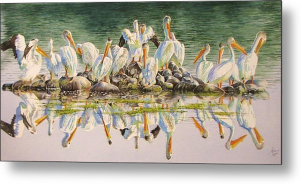 Standing Room Only Metal Print