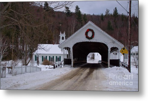 Stark Covered Bridge. Metal Print
