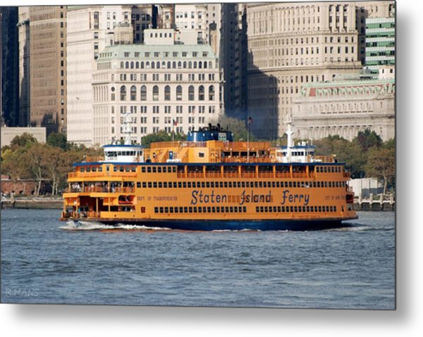 Metal Print featuring the photograph Staten Island Ferry by Rob Hans