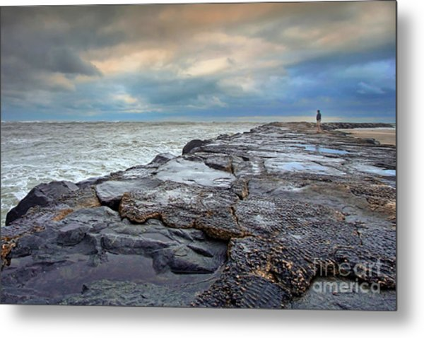 Storm Blowing Out Metal Print
