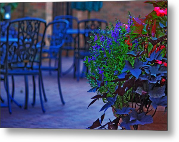 Summer Patio Metal Print