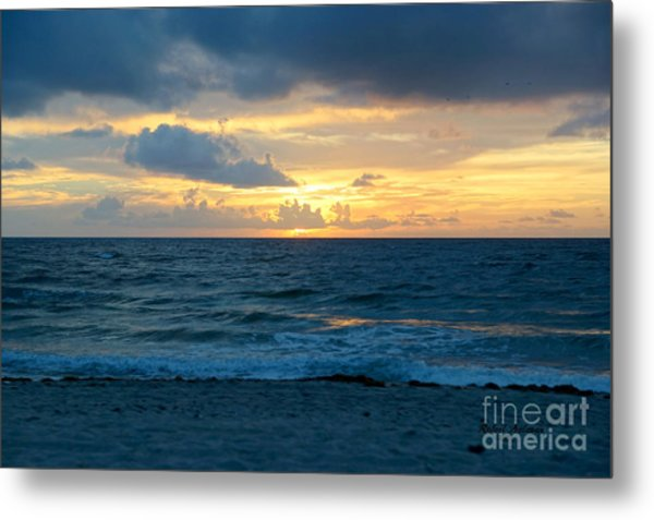 Sunrise In Deerfield Beach Metal Print