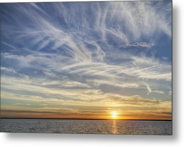Metal Print featuring the photograph Sunset At Cheyenne Bottoms by Rob Graham