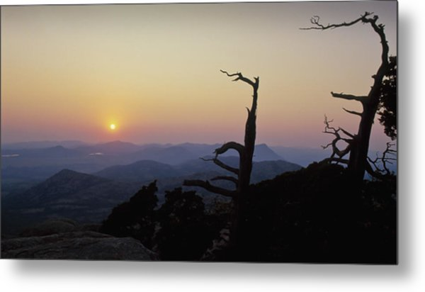 Sunset From Mt Scott Metal Print