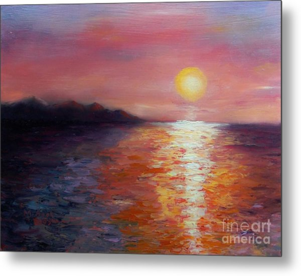 Sunset In Ixtapa Metal Print