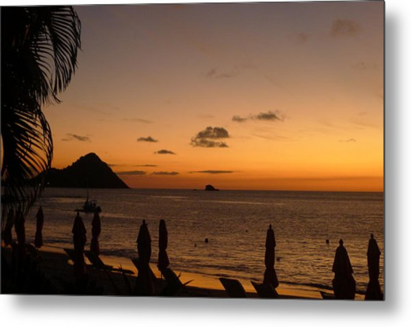Sunset - St. Lucia Metal Print