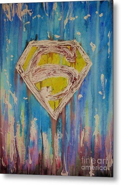 Superman's Shield Metal Print