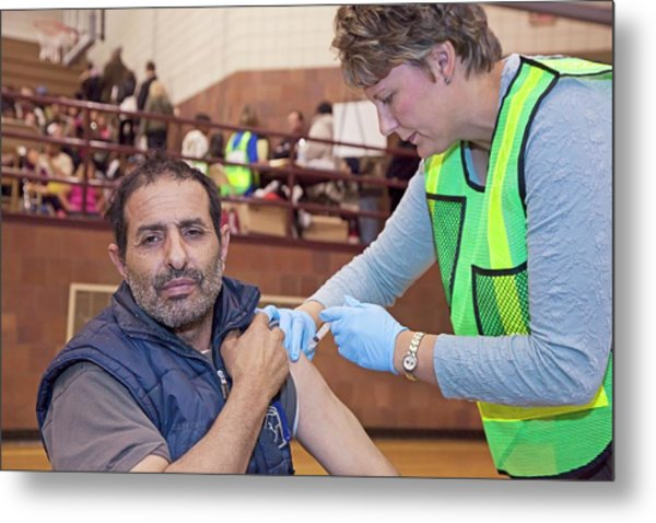 Swine Flu (h1n1) Vaccination Metal Print by Jim West