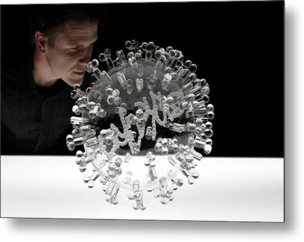 Swine Flu Virus Metal Print by Luke Jerram/science Photo Library