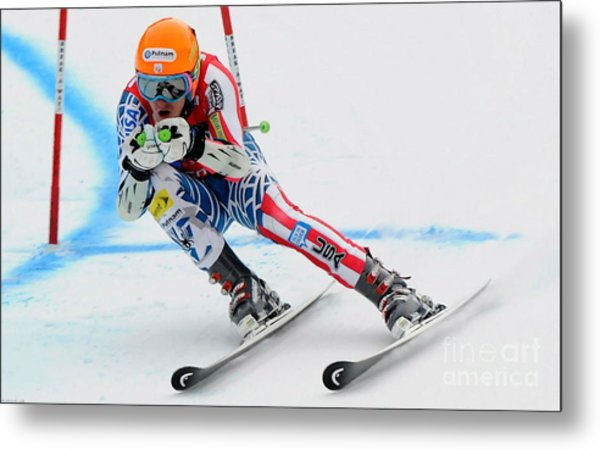 Ted Ligety Skiing  Metal Print